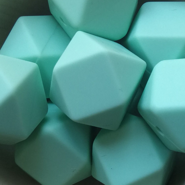 Silikonperle Hexagon Mint