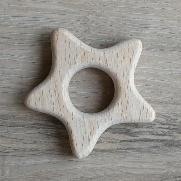 Holzanhänger Sternchen