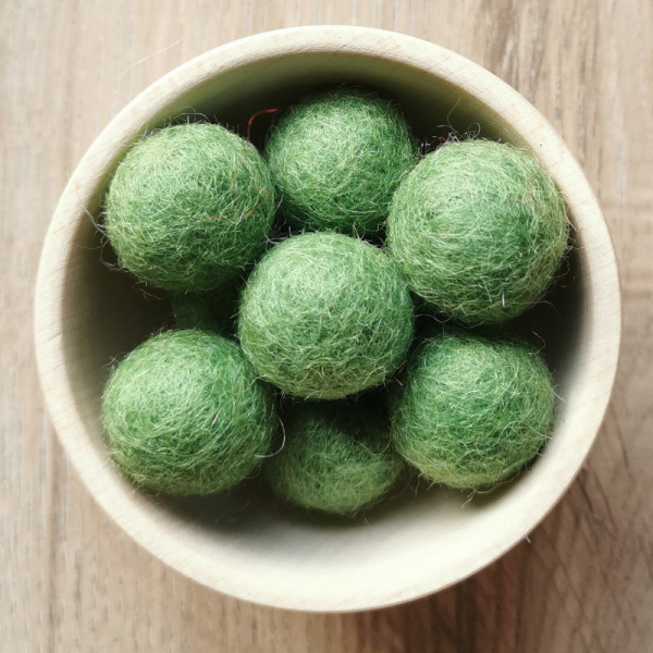 Filzperle Grün