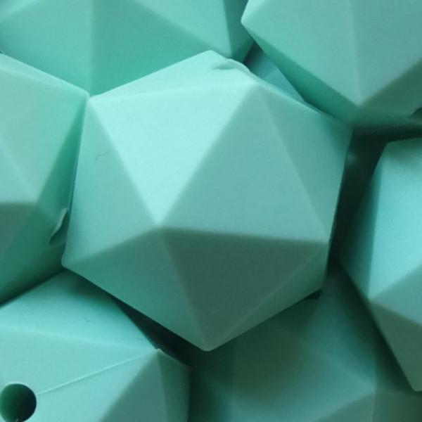 Silikonperle Ikosaeder Mint