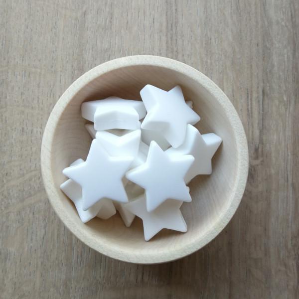 Motivperle Stern Weiß