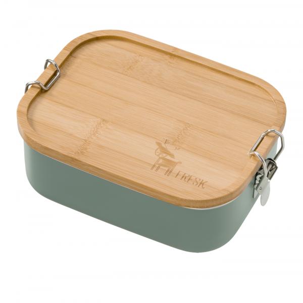 "Fresk Brotdose / Lunchbox ""Chinois Green / Grün Hirsch"""