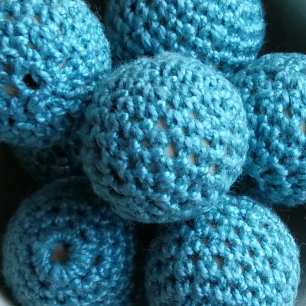 Häkelperle Blaugrün