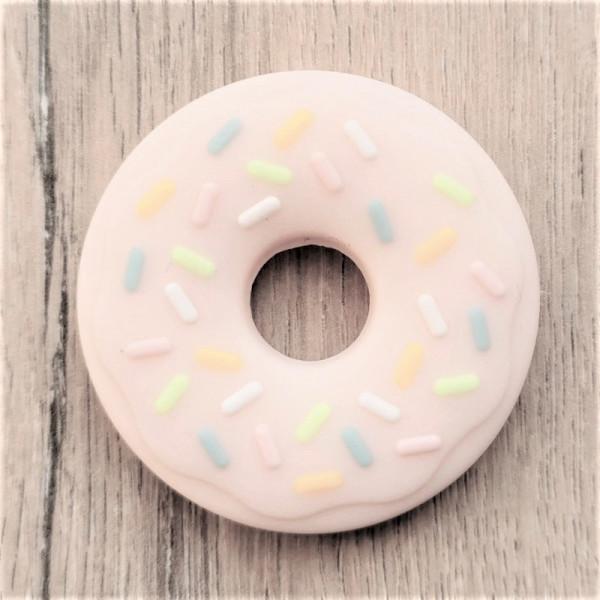 Silikonanhänger Donut Rosa