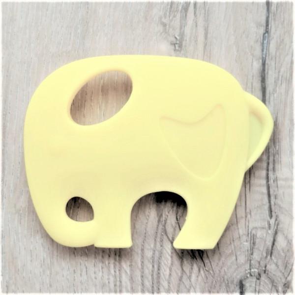 Silikonanhänger Elefant Gelb
