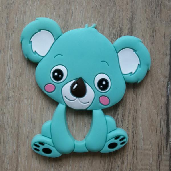 Silikonanhänger Koala Mintblau