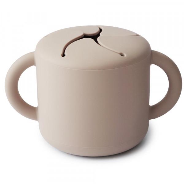 MUSHIE SILIKON SNACK CUP - SAND