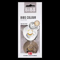 BIBS SCHNULLER - WHITE / DARK OAK - GRÖSSE 1