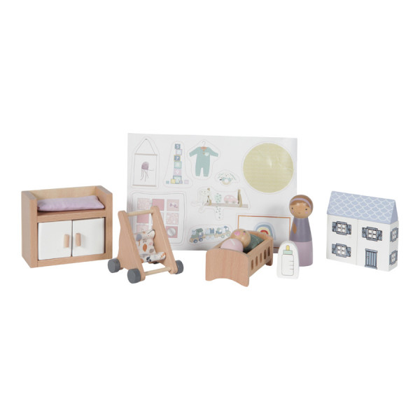 "LITTLE DUTCH PUPPENHAUS - SPIELSET ""BABYZIMMER"""