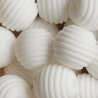 Rillenperle 15mm Weiß