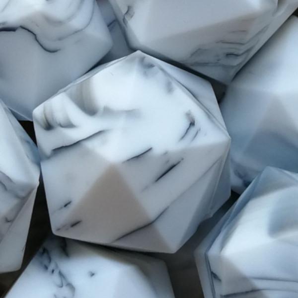 Silikonperle Ikosaeder Marmor