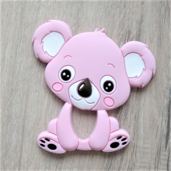 Silikonanhänger Koala Rosa