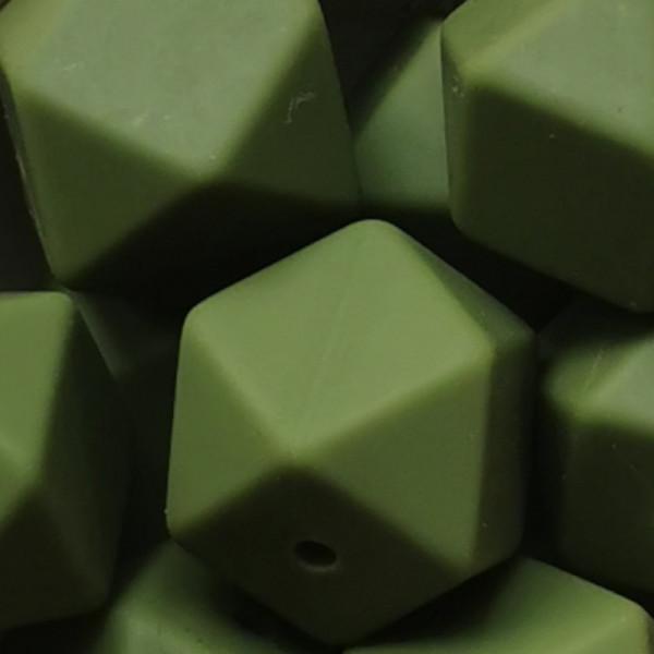Silikonperle Hexagon Lint
