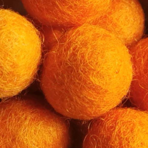 Filzperle Orange