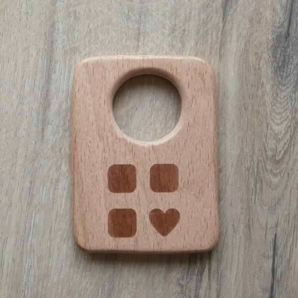 Holzanhänger Handy