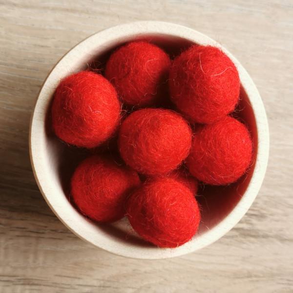 Filzperle Rot