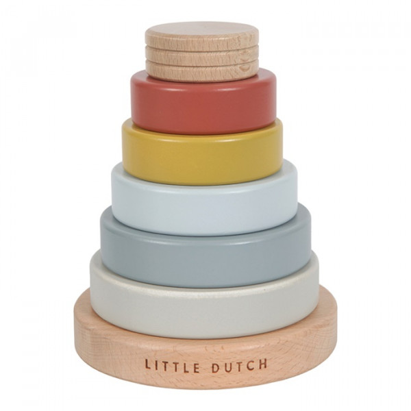 LITTLE DUTCH PURE STAPELTURM MIT RINGEN