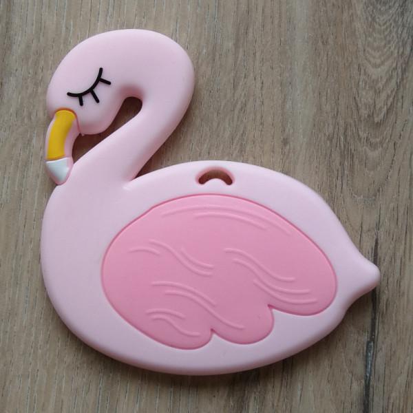 Silikonanhänger Flamingo