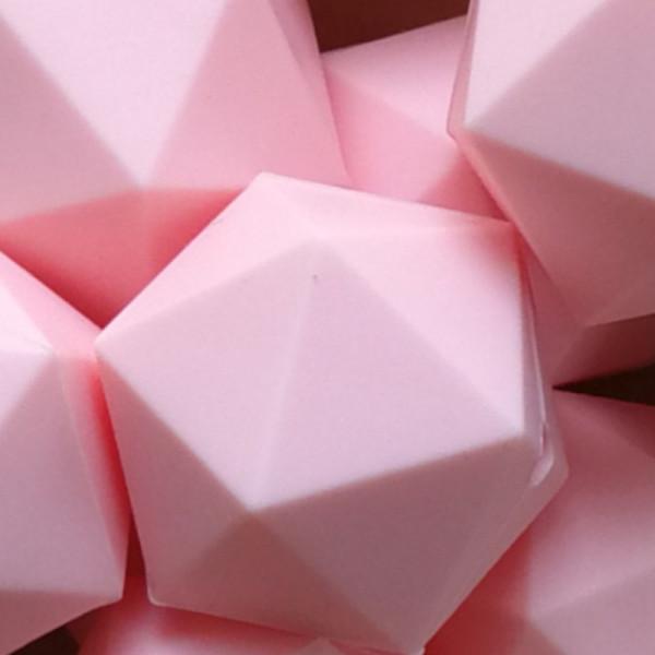 Silikonperle Ikosaeder Rosa